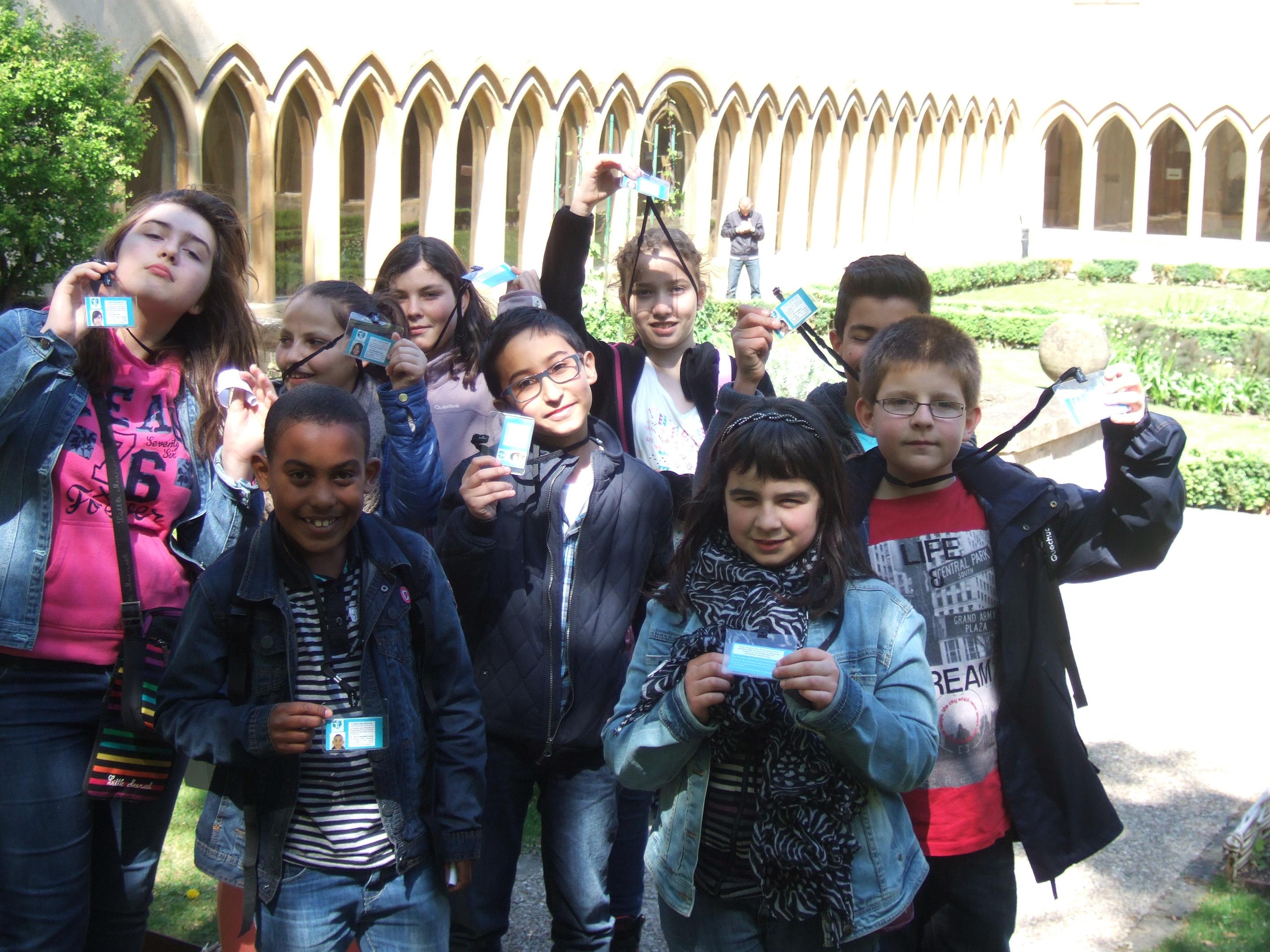 Les Jeunes Reporters pour l'Environnement au cloître des récollets pour une rencontre avec Jean-Marie PELT