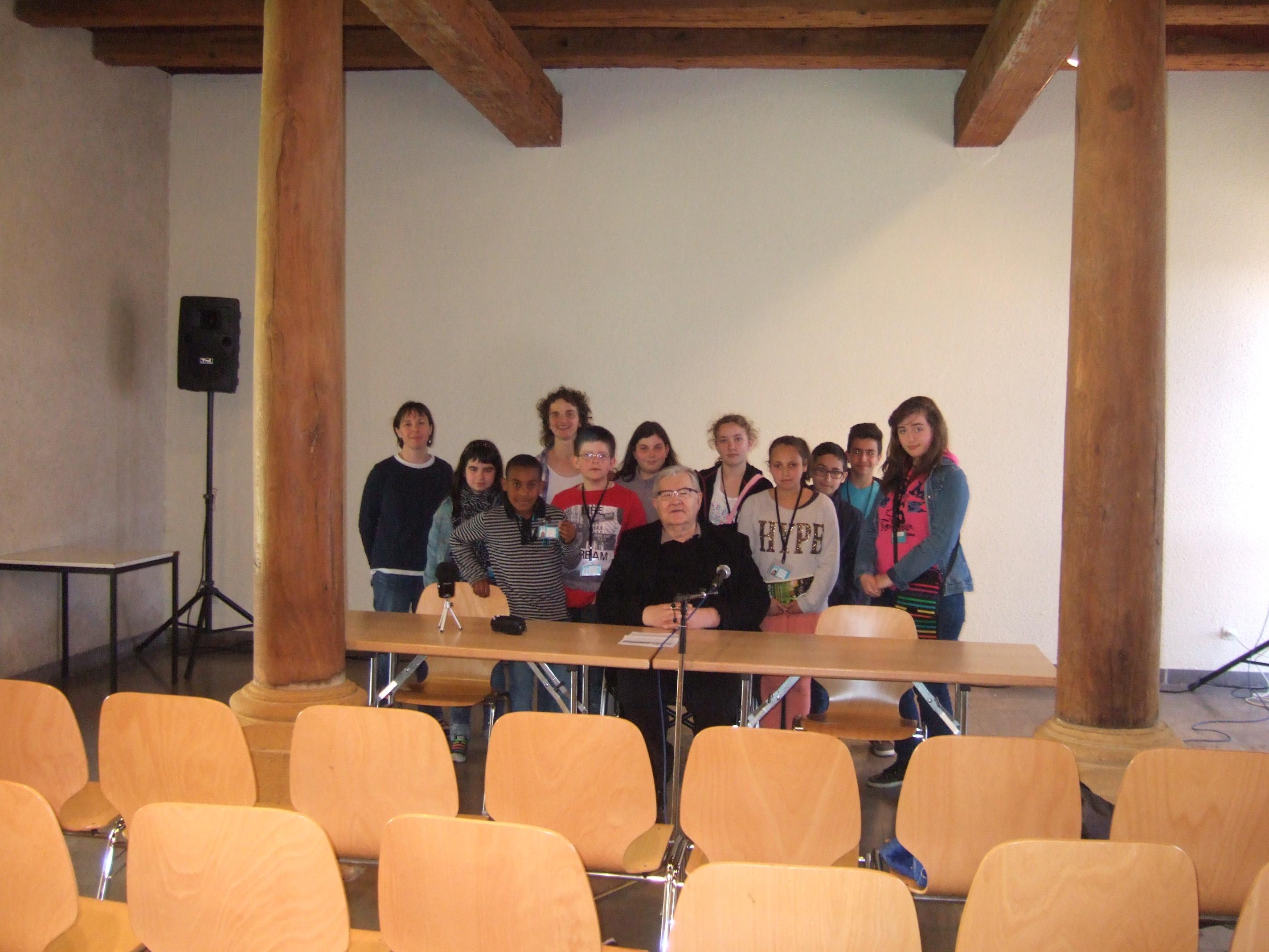 Les Jeunes Reporters pour l'Environnements pour l'interview de Jean-Marie PELT