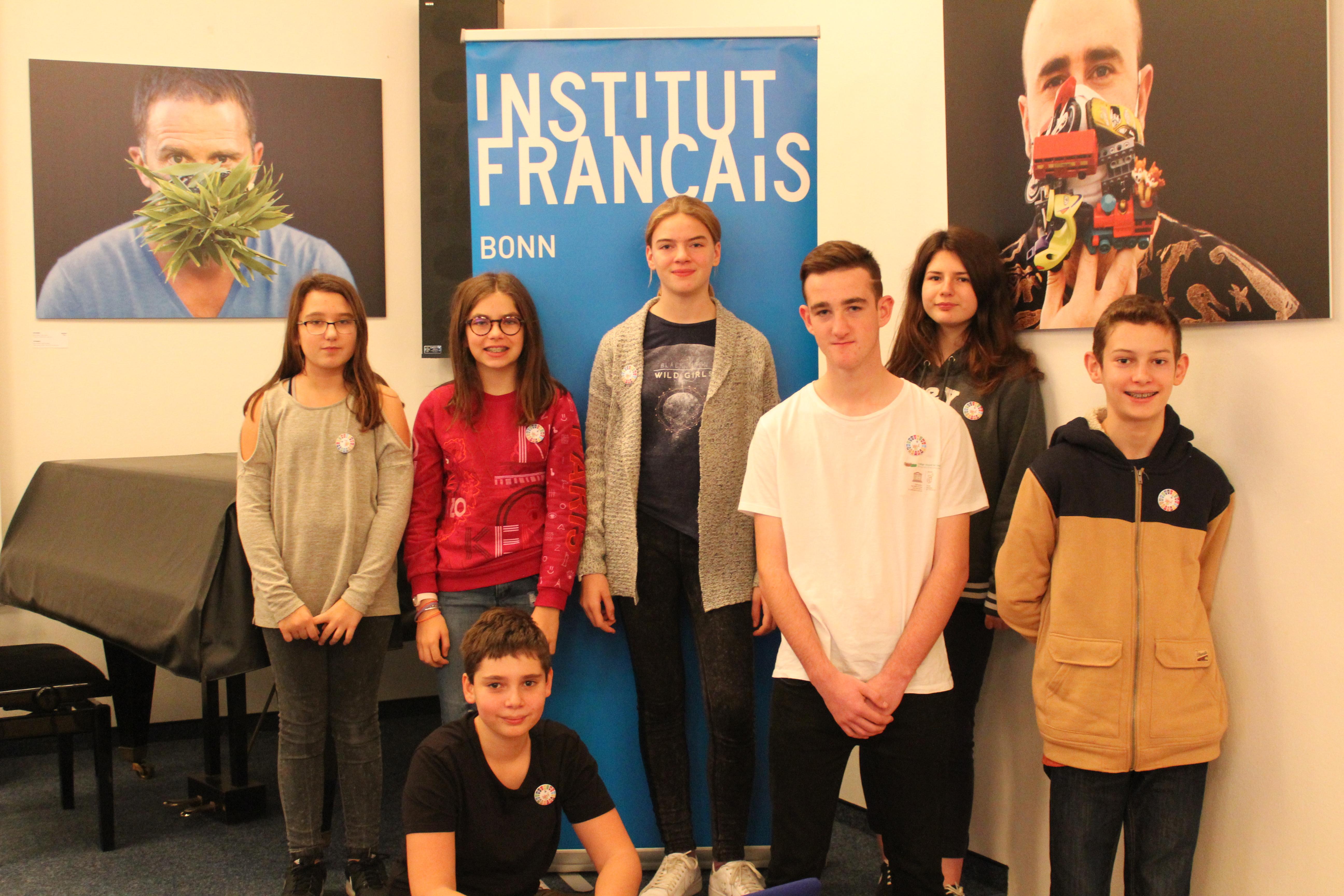 L'équipe d'Eco Radio à l'Institut Français de Bonn