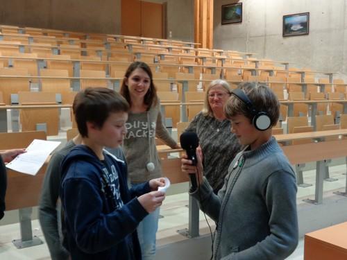 Les jeunes reporters sur le terrain