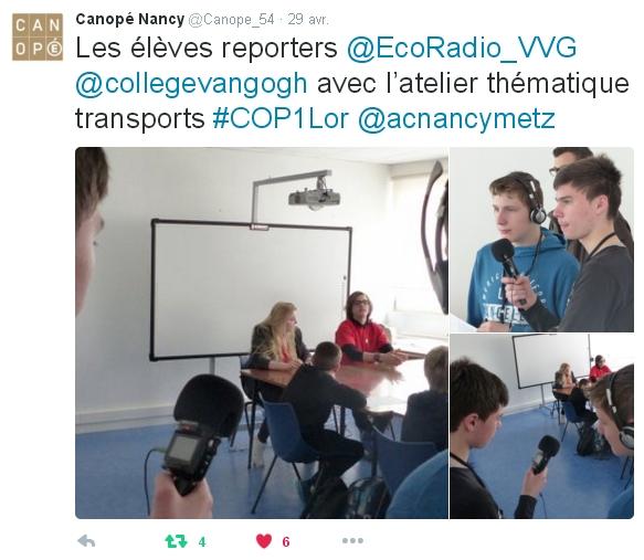 Les reporters d'Eco Radio au travail