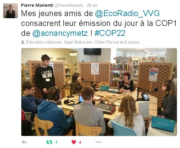 Interview après la COP1