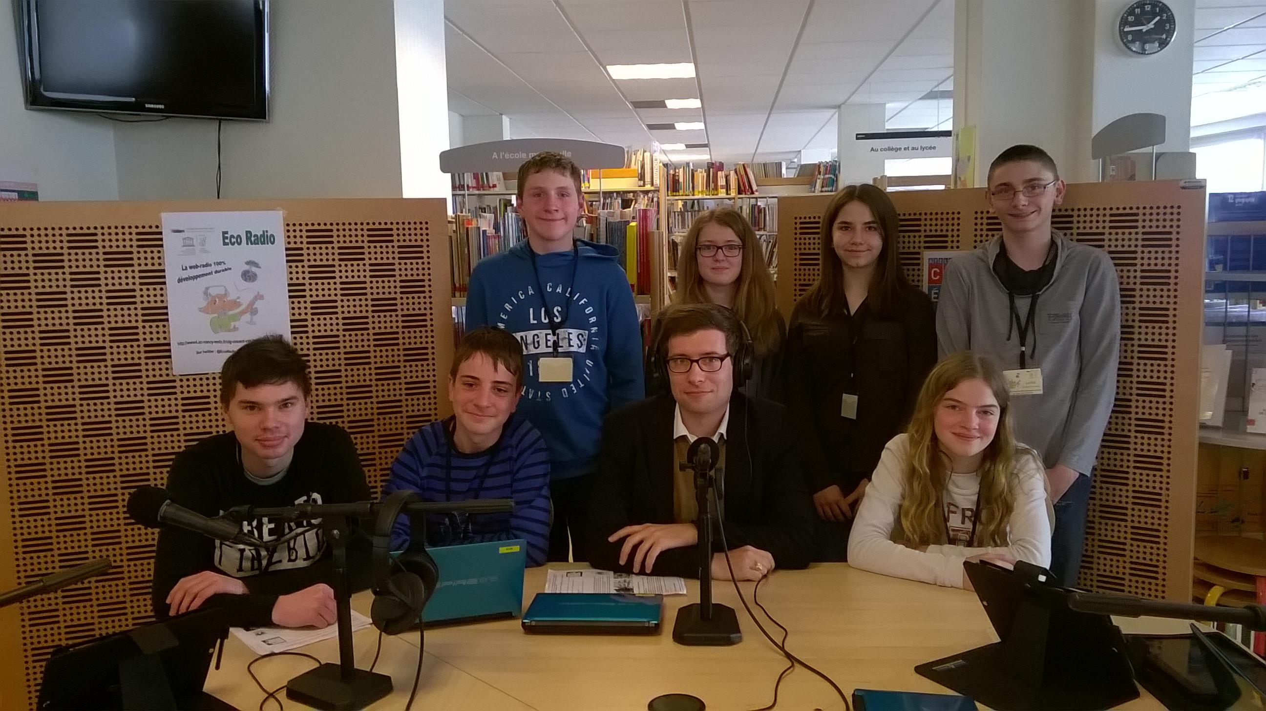 Pierre Manenti et l'équipe d'Eco Radio