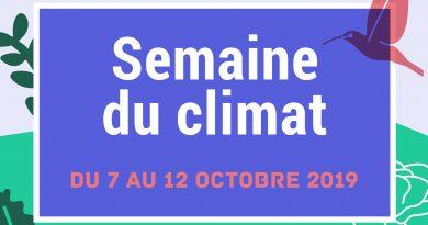 Semaine du climat du 7 au 12 octobre