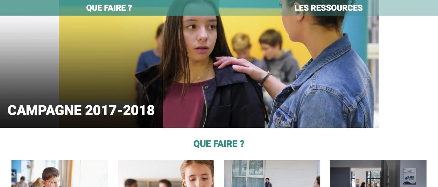 #NonAuHarcèlement Campagne 2017-2018