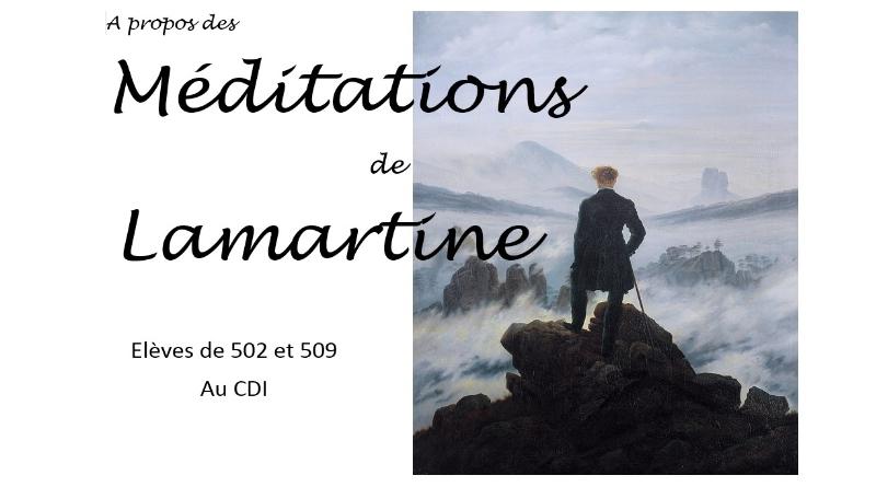 Méditations de Lamartine, écrits d'élèves