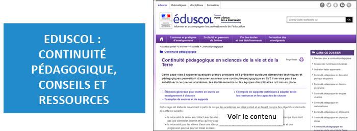 EDUSCOL - Continuité pédagogique